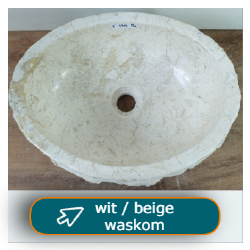 beige / wit waskommen b2b