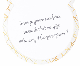 Luxe geurkaars: I'm sorry Attitude