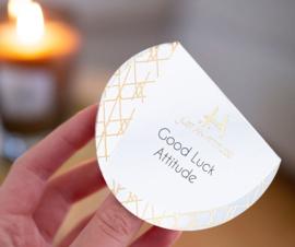 Luxe geurkaars : Good luck Attitude