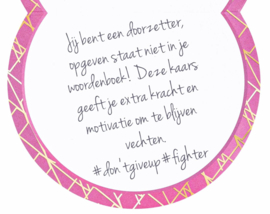 Luxe geurkaars: Don't give up Attitude