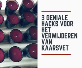 3 geniale hacks voor het verwijderen van kaarsvet
