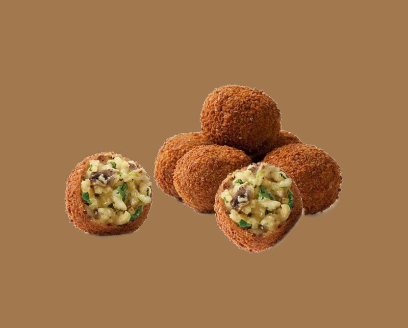 Risottini (risotto balletjes) Truffel & Bospaddenstoel 8 stuks