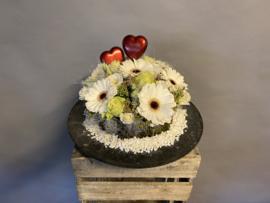 Valentijns bloementaart