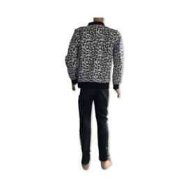 Set jas en broek met panterprint