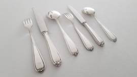 """Wellner, Germany - Silver plated Cutlery canteen - 79-piece/12-pax. - c.1955 - coll. """"Lavinia"""""""