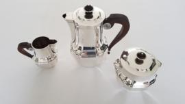 Christofle - Een verzilverd Koffieservies - Art Deco - 3-delig - Frankrijk, periode 1935-1983