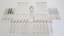 A Silver Plated Art Deco Cutlery set - 50-pieces/12-pax. - Le Couvert Francais - France 1955