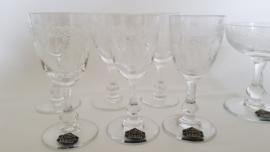 Kristal Saint Louis - Set van 6 Portglazen + Champagnecoupe - Cléo