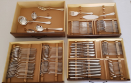 Christofle - Spatours - Silver plated cutlery canteen- 123-piece/12-pax.