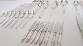 Silver Plated cutlery - P3 Chantal - 60-piece/8-pax. - Keltum, v. Kempen & Begeer - the Netherlands, c. 1950's