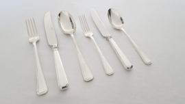 Silver plated cutlery in the  P25 Melina pattern - 43-piece/6-pax incl. serving pieces - Keltum, van Kempen & Begeer
