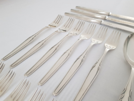SOLD - Silver Plated Cutlery Canteen, Paris pattern - WMF, Germany c. 1950's - 40 pieces (6 pax.)