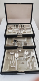 Auerhahn - Silver plated cutlery canteen- 8-pax./ 61-piece with Pearl motif