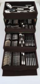 Christofle - Verzilverde Bestekcassette - model Vendome - 141 pieces