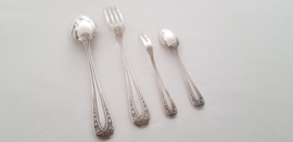 Antique Silver Plated Cutlery set in Empire style - 49 pieces - likely René Coutin, France 1878-1880