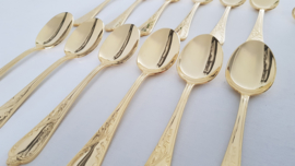 SBS Solingen - Gold-plated cutlery set in Louis XV/Rococo-style - 70-piece/12-pax. - Germany, 1990's