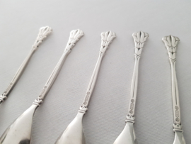 """5 silver plated coffee spoons - rare pattern """"641"""" - Gero, Georg Nilsson"""