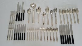 Silver plated Art Deco cutlery set - Gero, Georg Nilsson - 6-pax/47-pieces - model 431 - 1936-1955