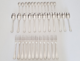 Christofle - Silver plated Art Deco Diner Cutlery - Boreal collection - 36-piece/12-pax.  - France, c. 1935-1983