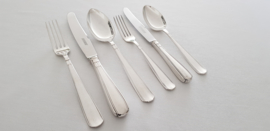 Gero, Georg Nilsson - Silver plated Art Deco cutlery in a wooden canteen - 76 pieces in model 431