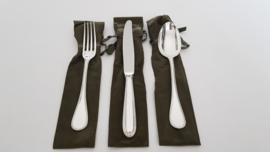 Zilveren dinercouvert - Christofle - Perles collectie - .925 zilver (1e gehalte)