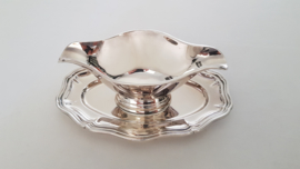 Ercuis, France - Silverplated Sauce Boat - Contours collection  - France, 1977