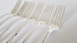 Christofle - Antique silver-plated cutlery set - Baguette pattern (Fidelio) - 26-piece/6 pax - France, period 1860-1884