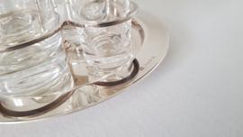 Christofle - Verzilverd Olie-en Azijnstel - Vertigo Collectie - ontwerp Andrée Putman