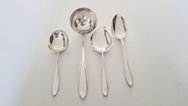 Silver plated cutlery in the P8 model - Keltum, v. Kempen & Begeer - 6-pax/34-piece - the Netherlands, period 1950-1965