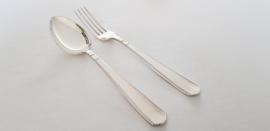 "Verzilverd Dinnercouvert - model 431 ""Rokje"" - Art Deco - ontwerp Georg Nilsson"