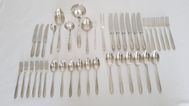 Silver plated cutlery in pattern P3 - Keltum, v. Kempen & Begeer - 6 pax./40-pieces - Netherlands, c. 1950