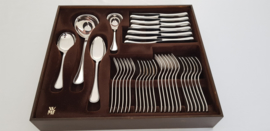Silver plated cutlery - Pearl Motif - 6-pax./40-pieces - WMF, Germany - c. 1920's