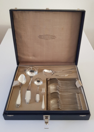 Gero, Georg Nilsson - Silver plated Cutlery Canteen - 49-piece/6 pax - pattern 454 - the Netherlands, 1936-1940's
