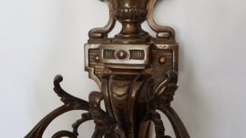 Mid-to-Late 19th Century cast Bronze Louis XVI-style 3-light wall Applique