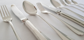 Silver plated cutlery in model Hollands Glad (Révérence) - 6-pax. / 58-pieces - Gero Zilvium 100, the Netherlands 1973-1985
