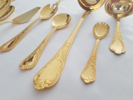 VERKOCHT - SBS Solingen - 70-delig compleet bestek in Rococo/Louis XV stijl - 24 karaats goud verguld