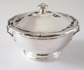 Ercuis, France- Silver plated Soup Tureen  - Chippendale style - Contours collection - France, 1977