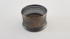 WMF - Antieke Wijnfleshouder - Geoxideerde finish - Gemerkt met Ooievaar [WMF-G] 1910-1925