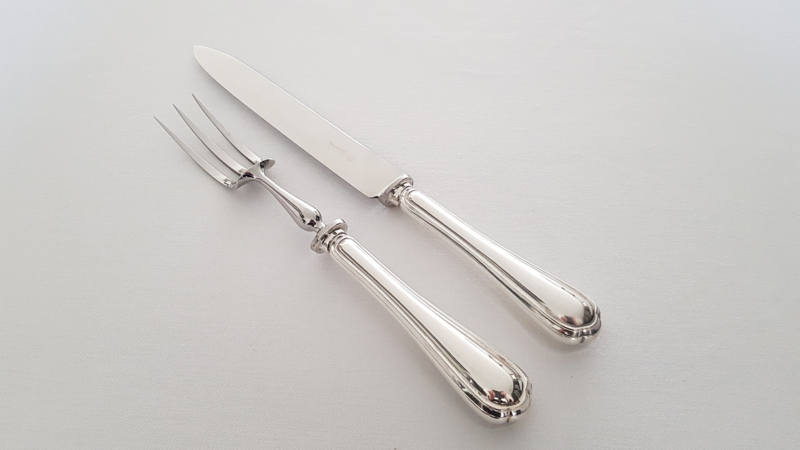 Christofle - A silver plated set of carving cutlery - Spatours collection