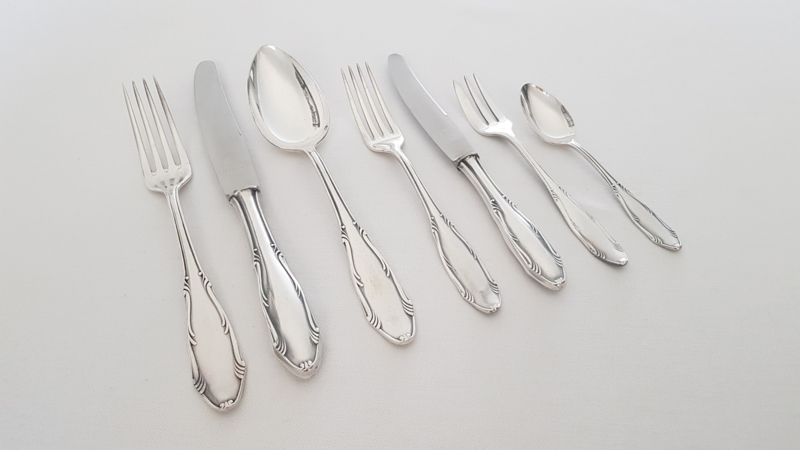 Silver plated Cutlery set in Art Nouveau style - 42-piece/6-pax. - Germany, c. 1950