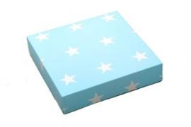 Cadeaudoosje - Blauw met witte sterren