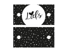 Cadeaulabel - Liefs Black and White - 2 stuks