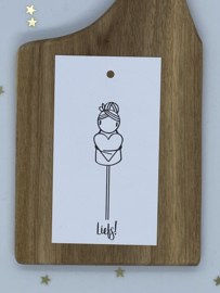 Mini cadeaulabel  - Liefs!