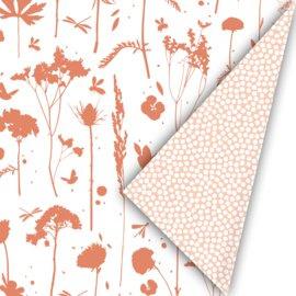 Cadeaupapier - Spring cubes roest