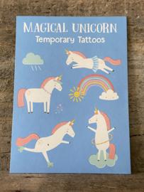 Unicorn plaktattoos