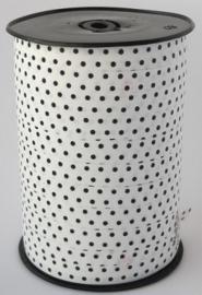 Krullint - Stip Wit/Zwart - 5 m