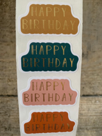Stickers  Multi - Happy Birthday - 8 stuks