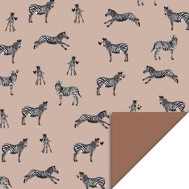 Cadeaupapier - Zebra Pink