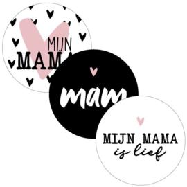 Sticker - Mijn mama - 6 stuks