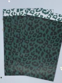 Cadeauzakje - Cheetah groen/zwart - 5 stuks